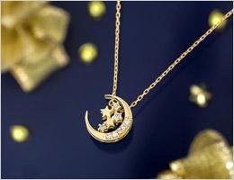 K10ゴールド ダイヤモンド合計0.05ct ネックレス